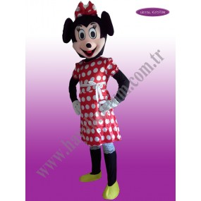 Minnie Mouse Maskot Kostümü
